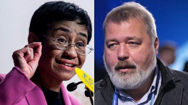 Maria Ressa e Dmitry Muratov são das Filipinas e da Rússia, respec