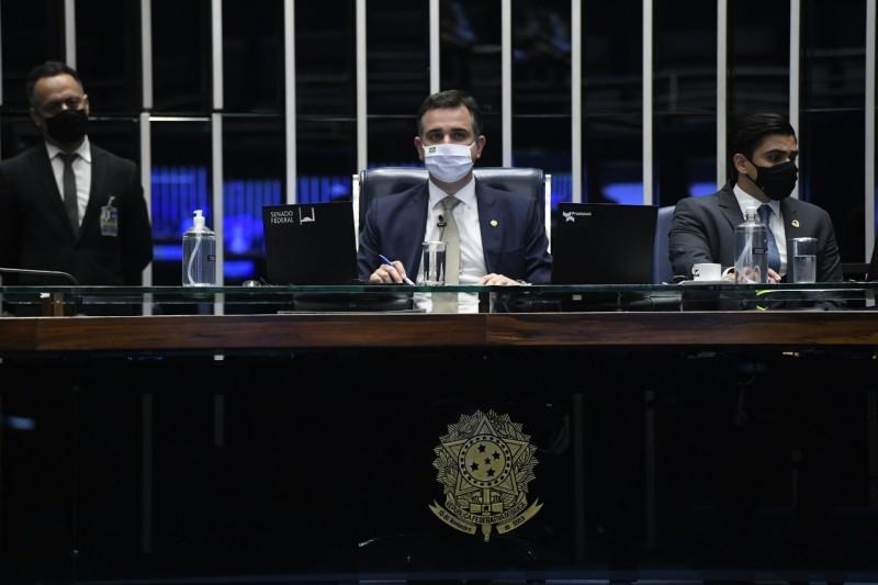 """Para o presidente Rodrigo Pacheco (DEM-MG), Levindo Coelho foi um homem público exemplar, """"líder humanista, conciliador e de firme postura ética"""" - Agência Senado"""