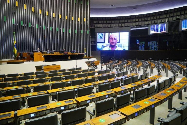 Sessão virtual do Plenário - (Foto: Pablo Valadares/Câmara dos Deputados)