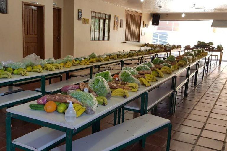 Alimentos da agricultura familiar adquiridos pelo Programa Nacional de Alimentação Escolar - (Foto: SEED/Paraná)